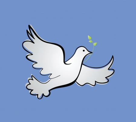 holy leaves: Dove of peace