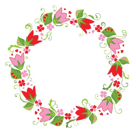 Flower wreath Vector
