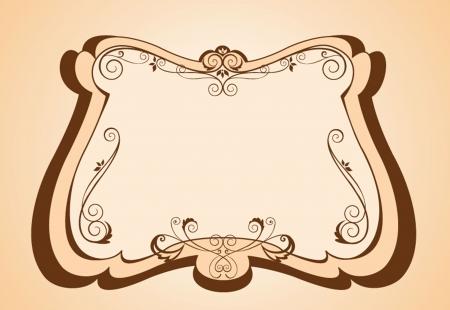 Retro frame Vector