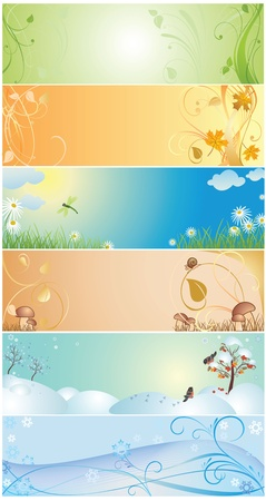 Seasonal banner Vector