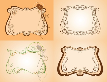 Set of decorative frame Vector