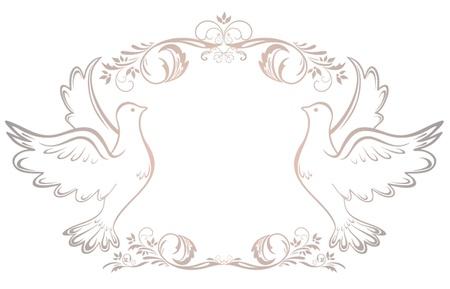 Hochzeit Vintage-Rahmen