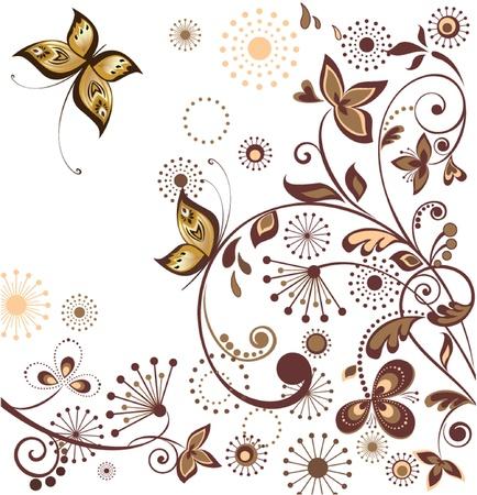 Floral retro card