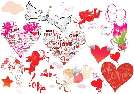 carta de amor: Valentine conjunto