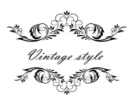 titles: Vintage header Illustration