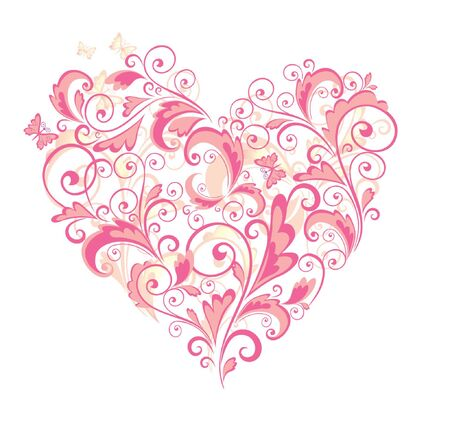 Beautiful floral heart Stock Vector - 18858686