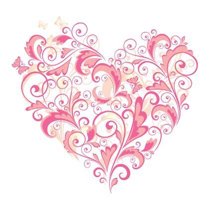 Beautiful floral heart Stock Vector - 18858686