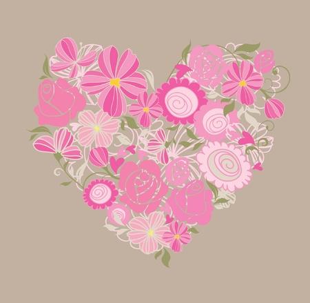 Beautiful greeting floral card Stock Vector - 18858682
