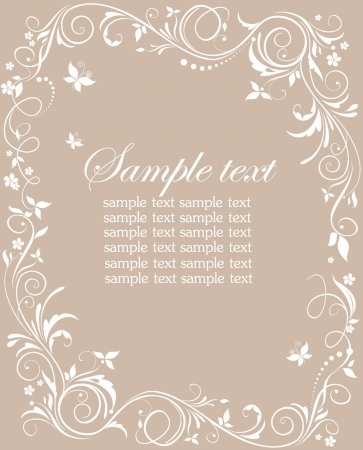 Pastel floral template Vector