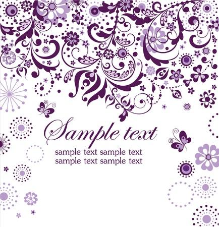 wed: Violet floral card
