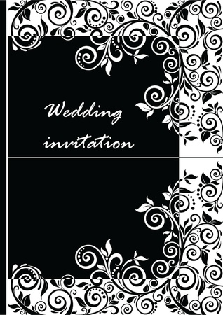 corner design: Wedding invitation