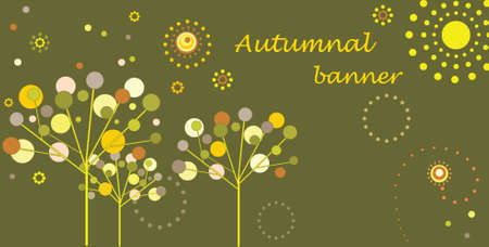 Autumnal banner Vector