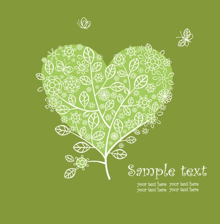 Lacy greeting beautiful tree Vector