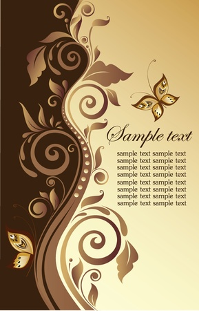 Ornate floral banner Vector