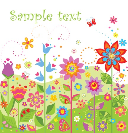 Seamless floral border Stock Vector - 18874160
