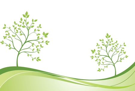 Creative green banner Vector