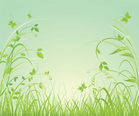 sprout growth: Floral spring background