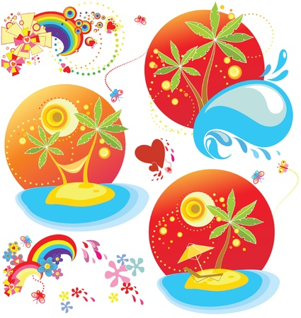 Holiday sticker Vector