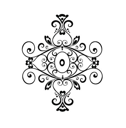 adornment: Vintage ornamento Vettoriali