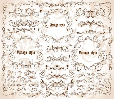 Vintage frames and design elements Stock Vector - 18894056