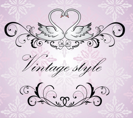 Vintage wedding frame Vector