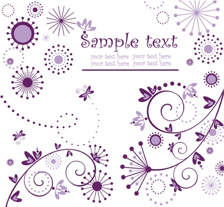 Violet greeting card Vector