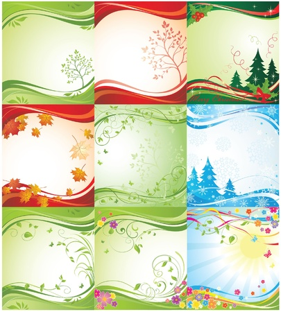 Seasonal backgrounds Stock Vector - 18894140