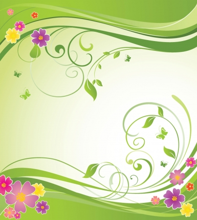 Summery floral banner Vector