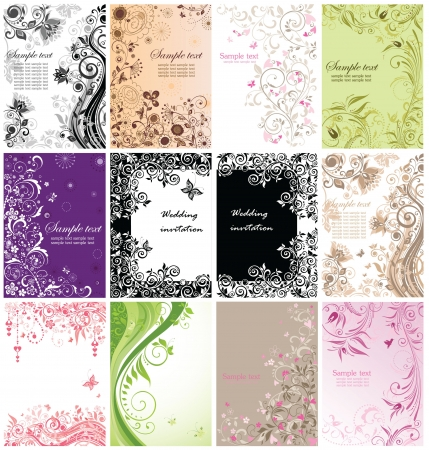 Vintage floral banners Stock Vector - 18894143