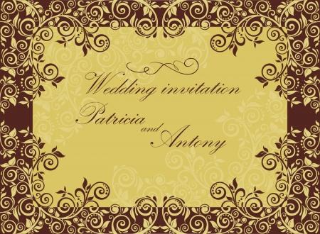 invitacion boda vintage: Invitaci�n de la boda del vintage