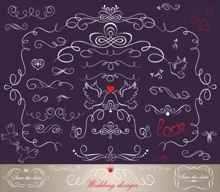 drawing dove: Wedding design