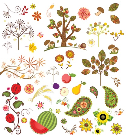 Autumnal set Illustration