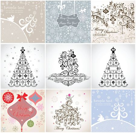 Christmas cards Stock Vector - 18894145