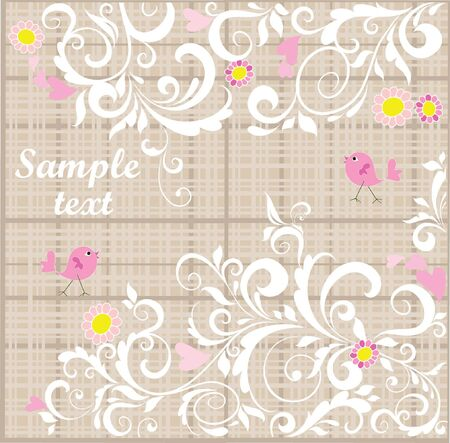 Beautiful floral card Stock Vector - 18894031