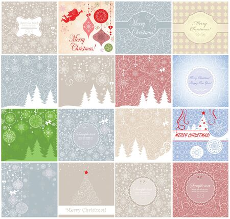 Greeting xmas cards Vector