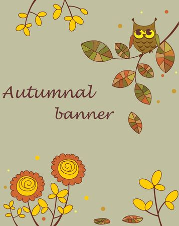 Abstract autumnal banner Vector