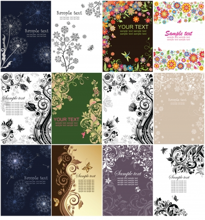Floral vertical banners Vector