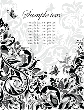 scroll design: Vintage floral banner