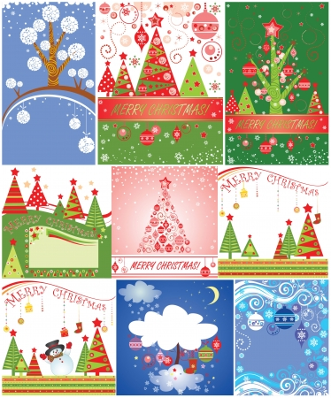 Christmas cards.Set. Vector