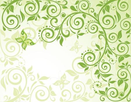 green swirl: Green eco card