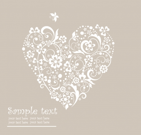 wedding invitation: Greeting heart shape Illustration