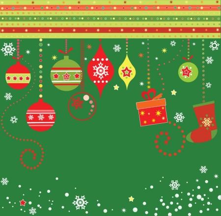christmas gift box: Greeting xmas postcard
