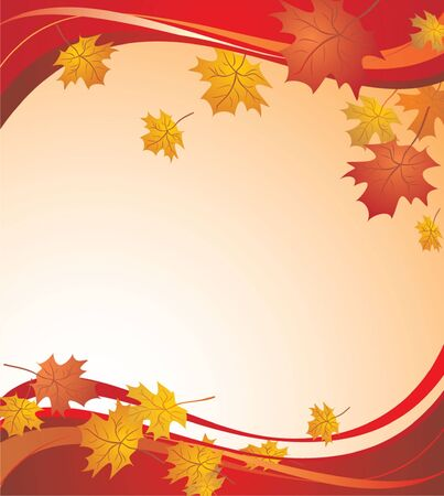 shedding: Red autumnal background