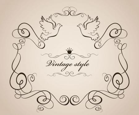 marriage ceremony: Vintage style