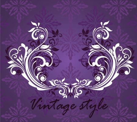 Violet vintage background Vector