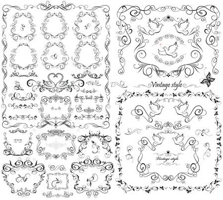 Wedding design collection Vector