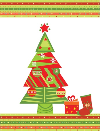 Xmas greeting postcard Vector