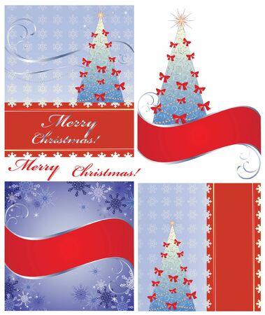new yea: Navidad tarjeta postal Vectores