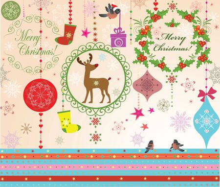 Christmas greeting Vector