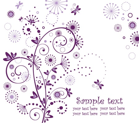 Abstract greeting card Stock Vector - 18921346